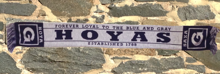 Hoyas Scarf on stone wall
